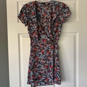 Floral top shop wrap dress